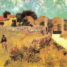 Farmhouse in Provence landscape canvas art print by Vincent van Gogh