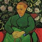 La Berceuse Augustine Roulin woman portrait canvas art print by Vincent van Gogh