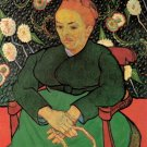 La Berceuse Augustine Roulin II woman portrait canvas art print by Vincent van Gogh