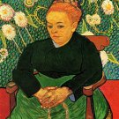 La Berceuse Augustine Roulin III woman portrait canvas art print by Vincent van Gogh