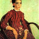 La Mousme Sitting woman portrait canvas art print by Vincent van Gogh