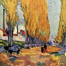 Les Alyscamps landscape canvas art print by Vincent van Gogh