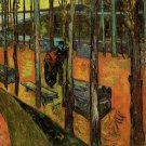 Les Alyscamps II landscape canvas art print by Vincent van Gogh