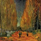 Les Alyscamps III landscape canvas art print by Vincent van Gogh