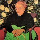 Madame Roulin Rocking the Cradle La Berceuse woman portrait canvas art print by Vincent van Gogh