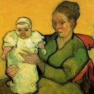 Mother Roulin with Her Baby woman canvas art print by Vincent van Gogh