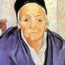 Old Woman of Arles woman portrait canvas art print by Vincent van Gogh