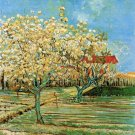 Orchard in Blossom III landscape canvas art print by Vincent van Gogh
