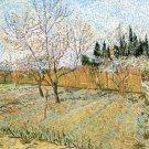 Orchard with Peach Trees in Blossom landscape canvas art print by Vincent van Gogh