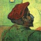 Paul Gauguin Man in a Red Beret portrait canvas art print by Vincent van Gogh