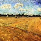 Ploughed Field landscape canvas art print by Vincent van Gogh