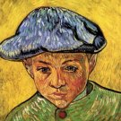 Portrait of Camille Roulin boy canvas art print by Vincent van Gogh