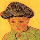 Portrait of Camille Roulin II boy canvas art print by Vincent van Gogh