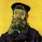 Portrait of the Postman Joseph Roulin man canvas art print by Vincent van Gogh