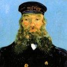 Portrait of the Postman Joseph Roulin VI man canvas art print by Vincent van Gogh