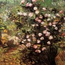 Rosebush in Blossom landscape canvas art print by Vincent van Gogh