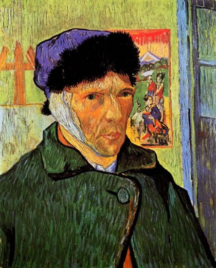 Self Portrait with Bandaged Ear man canvas art print by Vincent van Gogh