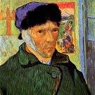 Self Portrait with Bandaged Ear man canvas art print by Vincent van Gogh