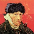 Self Portrait with Bandaged Ear and Pipe man canvas art print by Vincent van Gogh