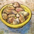 Still Life Potatoes in Yellow Dish canvas art print Vincent van Gogh