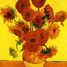 Still Life Vase with Fifteen Sunflowers III canvas art print van Gogh