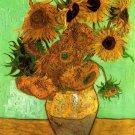 Still Life Vase Twelve Sunflowers II canvas art print Vincent van Gogh