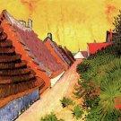 Street in Saintes Maries cityscape canvas art print by Vincent van Gogh