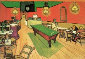 The Night Cafe in the Place Lamartine in Arles people canvas art print by Vincent van Gogh