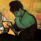 The Novel Reader woman canvas art print by Vincent van Gogh
