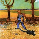 The Painter on His Way to Work landscape man canvas art print by Vincent van Gogh