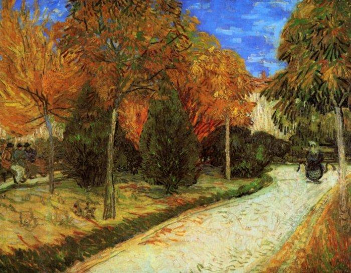 The Public Park at Arles landscape canvas art print by Vincent van Gogh