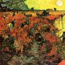 The Red Vineyard landscape canvas art print by Vincent van Gogh