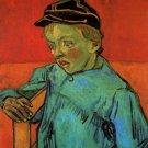 The Schoolboy Camille Roulin child portrait canvas art print by Vincent van Gogh