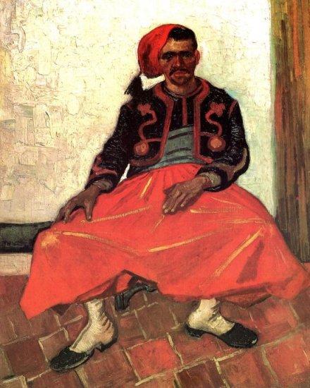 The Seated Zouave man portrait canvas art print by Vincent van Gogh