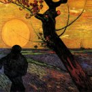 The Sower III man landscape canvas art print by Vincent van Gogh