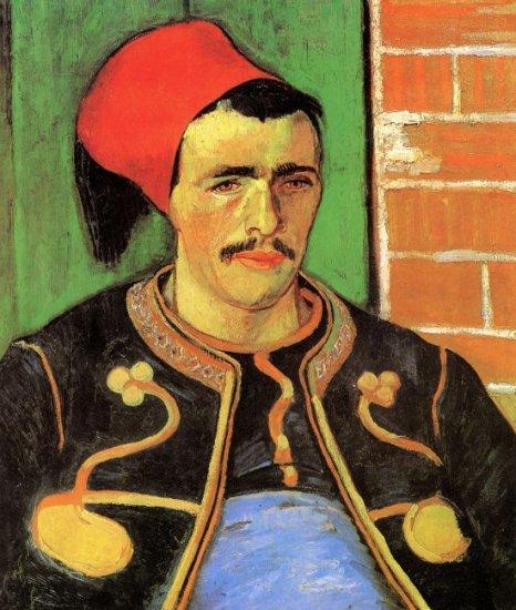 The Zouave Half Length man portrait canvas art print by Vincent van Gogh