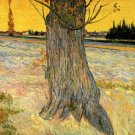 Trunk of an Old Yew Tree landscape canvas art print by Vincent van Gogh