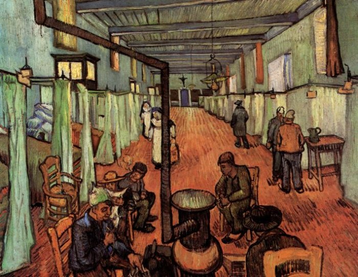 Ward in the Hospital in Arles canvas art print by Vincent van Gogh