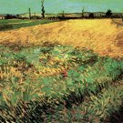 Wheat Field with the Alpilles Foothills in the Background landscape canvas art print by van Gogh