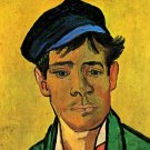 Young Man with a Cap portrait canvas art print by van Gogh