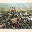 Battle Fall of Petersburg 1865 Civil War canvas art print by Kurz and Allison