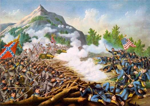 Battle of Kenesaw Mountain 1864 Civil War canvas art print by Kurz and Allison
