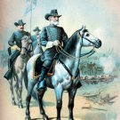 General Robert E Lee at Gettysburg Battle Civil War canvas art print