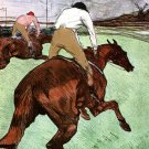 Jockey on a Horse animal canvas art print by Henri de Toulouse-Lautrec