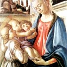Madonna and two angels Jesus Christ Bible canvas art print Botticelli