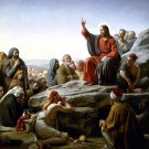 Sermon On The Mount Christ canvas art print by Carl H Bloch