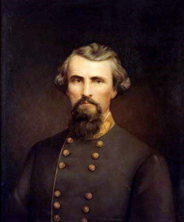 General Nathan B Forrest Civil War canvas art print Nicola Marschall