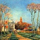 Village Entrance of Voisins 1872 canvas art print by Camille Pissarro
