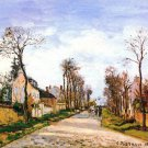 The Versailles Road 1870 landscape canvas art print Camille Pissarro