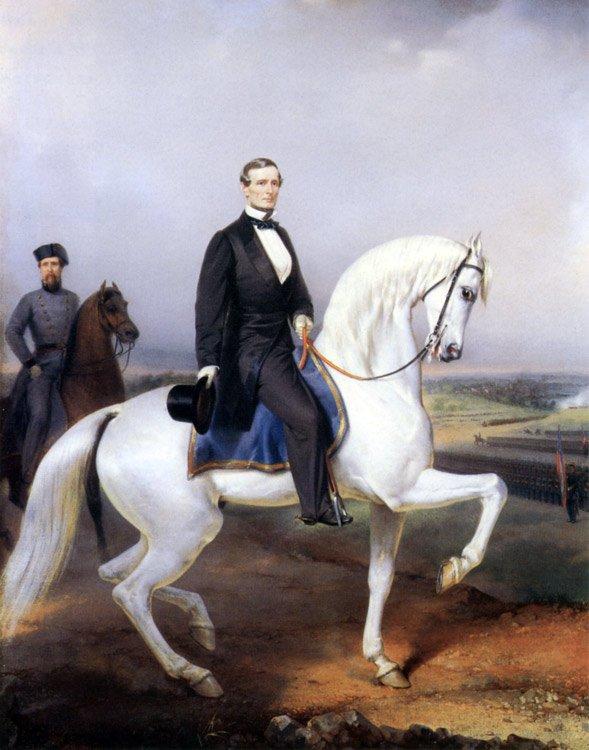 Davis Reviewing Louisiana Regiment Civil War canvas print Guillaume